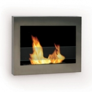 SoHo Wall Mount Ethanol Fireplace (Stainless Steel) (28W x 19H x 5.5D)
