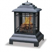 Uniflame Black Firehouse With Protective Cover, Large