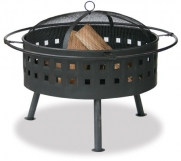 Uniflame WAD997SP Aged Bronze Outdoor Firebowl with Lattice Design
