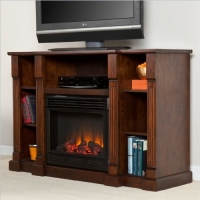Southern Enterprises Kendall Electric Media Fireplace in Espresso