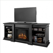 Real Flame G1200E-B Fresno Indoor Electric Entertainment Center
