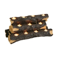 SEI Resin Tealight Fireplace Log