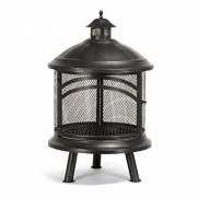 Bayside Traditional Styling Wood Buning Outdoor Fireplace