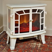 Duraflame 950 Cream Electric Fireplace Stove with Remote Control - DFS-950-5