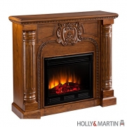Southern Enterprises Romano Electric Fireplace in Salem Antique Oak