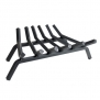 Pleasant Hearth - 3/4 Premium Solid Steel Fireplace Grates - Lifetime Warranty, Black, 24-Inch