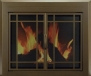 Pleasant Hearth EN-5502 Pleasant Hearth Enfield Glass Firescreen, Large, Burnished Bronze