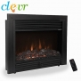 Clevr 29 1500W Adjustable Electric Wall Insert Fireplace Heater W/Remote