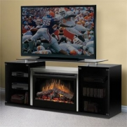 Marana 76 TV Stand with Electric Fireplace Finish: Black - Wood Burning Bed