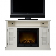 SEI Antebellum Media Console with Electric Fireplace, Antique White