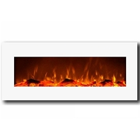 Moda Flame Houston 50 Electric Wall Mounted Fireplace White