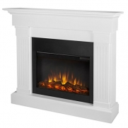 Real Flame Crawford Electric Slim Line Fireplace in White Finish