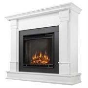 Real Flame Silverton Ventless Gel Fireplace - White