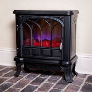 Duraflame 400 Sq Ft 1500W Electric Stove Fireplace Heater w/Flame Effect | Black