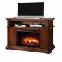 Pleasant Hearth Melton Media Fireplace in Mahogany Finish