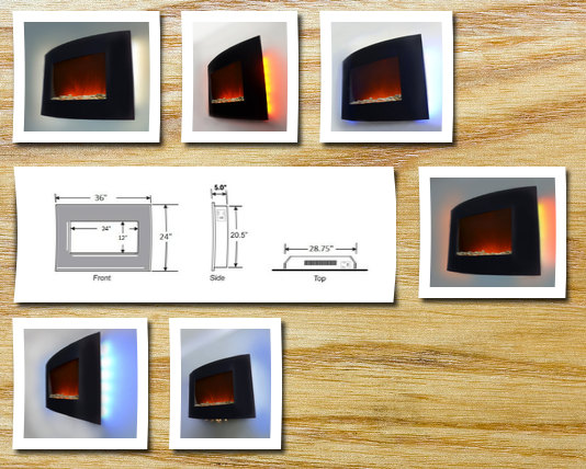 """AKDY AX-520APB Space Heaters 36""""L X 22""""W X 7""""D Black"""