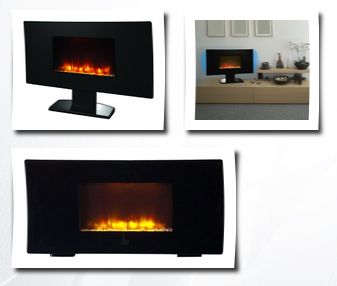 Estate Design Em27f0101 Wall Mount Fireplace 35 Inch