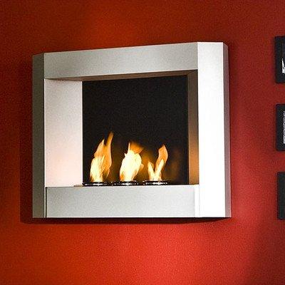 sleek wall mounted gel fuel fireplace southern