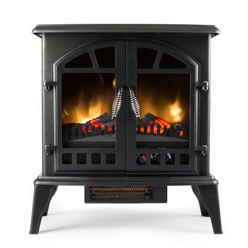 Standing Electric Fireplace Stove - 22 Inch Black Portable Electric