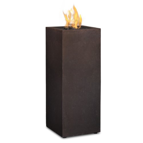 Real Flame Baltic Propane Fire Column Kodiak Brown Real