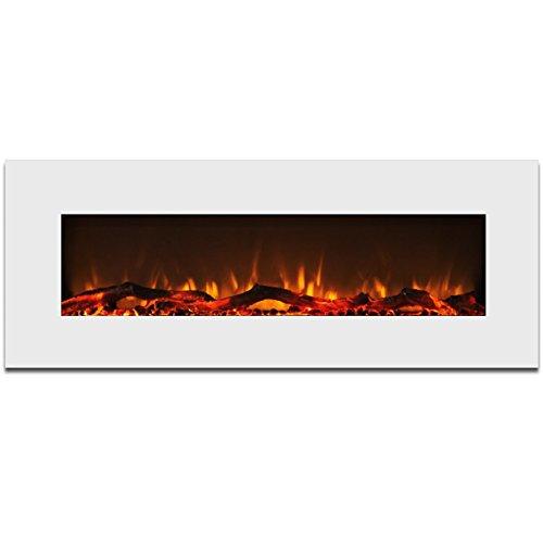 Elite Flame Ashford 50 Electric Wall Mounted Fireplace White Elite Flame Elite Flame Ef5050wh
