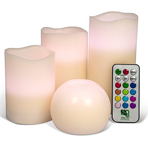 4 Candle Set with Remote Control Includes 3 Flameless LED ...